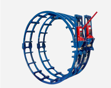 Independent hydraulic external pipe line-up clamp